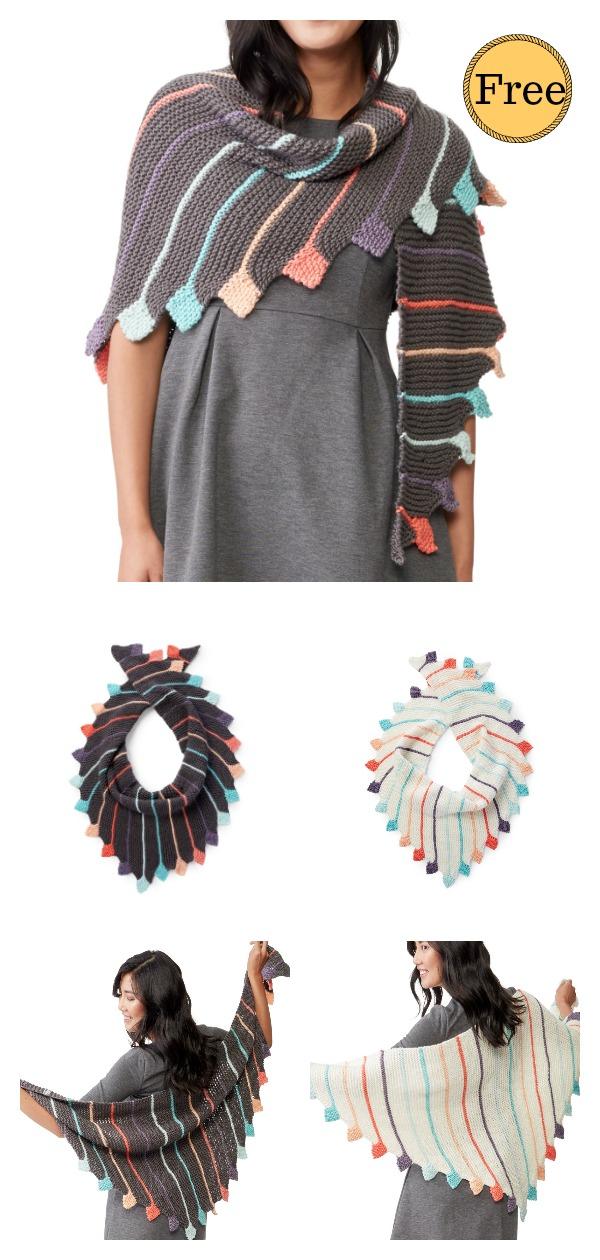 Radiant Shawl Free Knitting Pattern