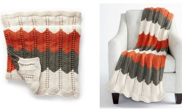 Ripple and Ridge Afghan Blanket Free Knitting Pattern and Video Tutorial