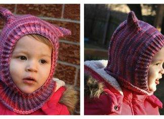 Seamless Kitty Cat Hat Free Knitting Pattern