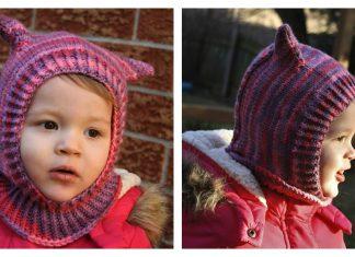 Seamless Kitty Cat Hat Free Knitting Pattern