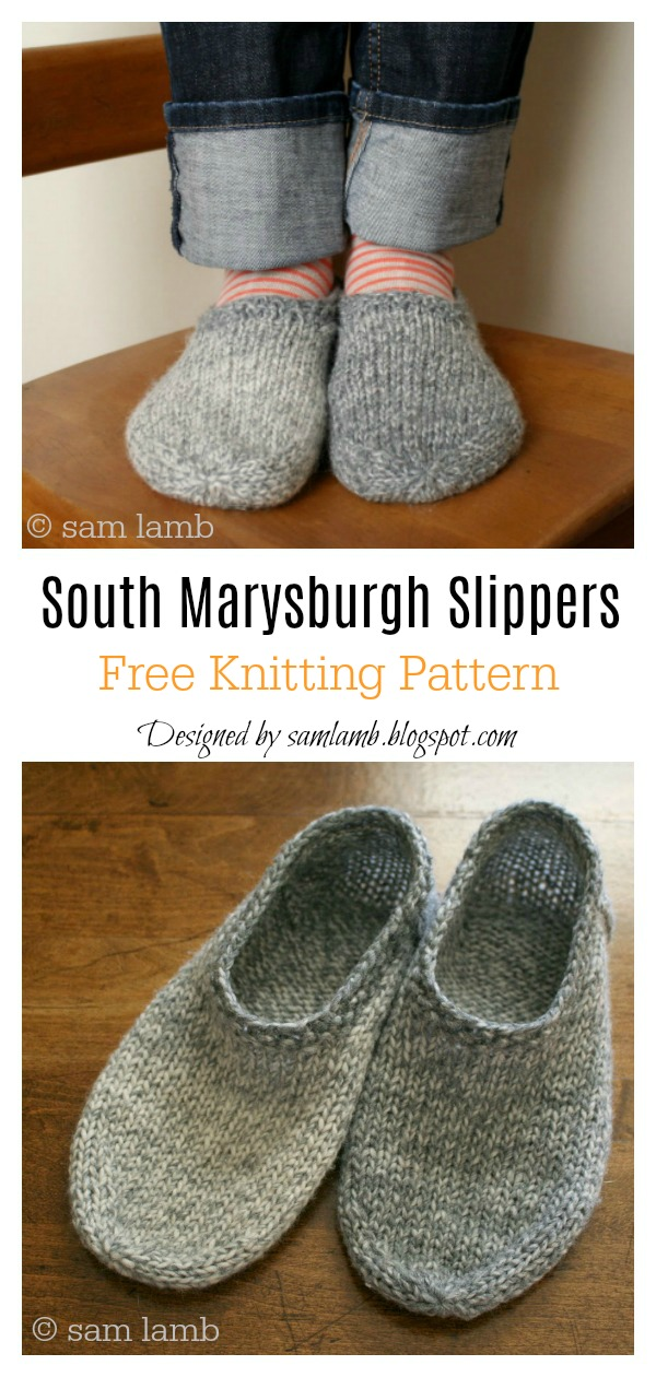 South Marysburgh Slippers FREE Knitting Pattern