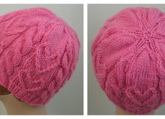 Sweetheart Beanie Free Knitting Pattern