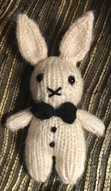 Amigurumi Tuxedo Ted Bunny Free Knitting Pattern