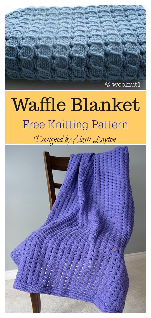 Waffle Baby Blanket Free Knitting Pattern
