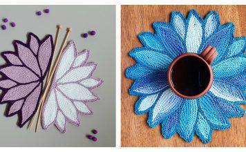 Water Lily Coaster Free Knitting Pattern