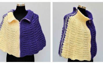 Wedges Round Cape Free Knitting Pattern