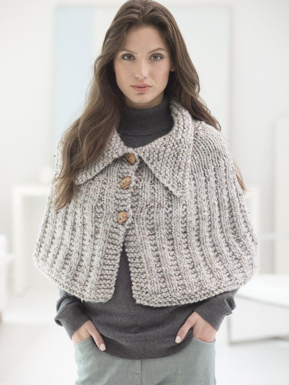 Quick Knit Capelet Free Pattern