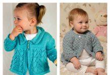 10 Baby Lace Cardigan Free Knitting Pattern