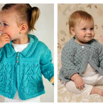10 Baby Lace Cardigan Free Knitting Pattern