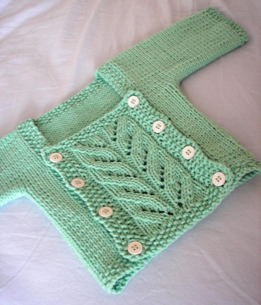 Presto Chango Baby Cardigan Free Knitting Pattern
