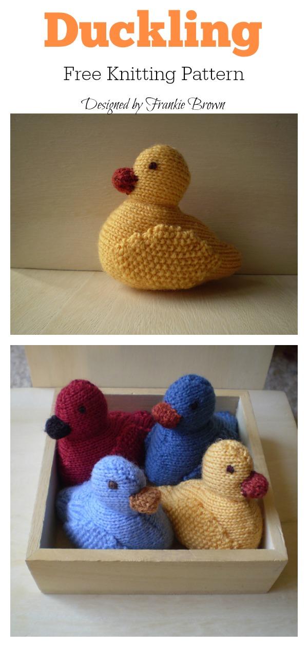 Amigurumi Duckling Free Knitting Pattern