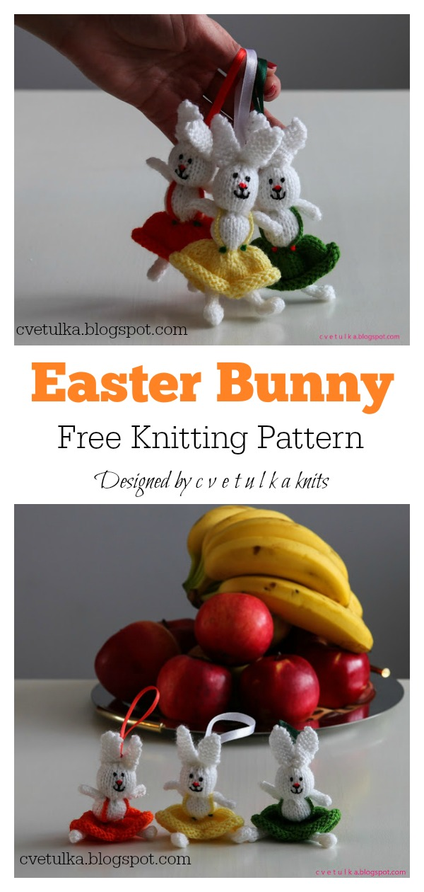 Amigurumi Easter Bunny Free Knitting Pattern