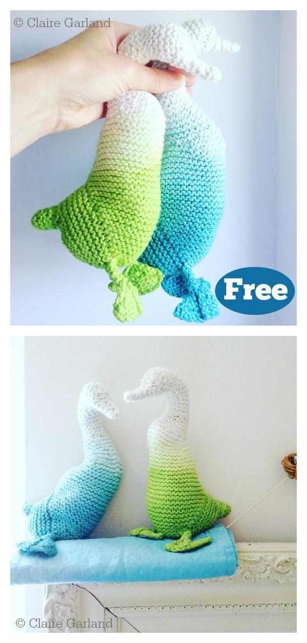 Amigurumi Ombre Duck Free Knitting Pattern