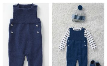 Baby Dungarees Free Knitting Pattern