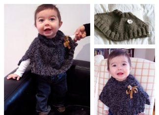 Baby Gaga Capelet Free Knitting Pattern