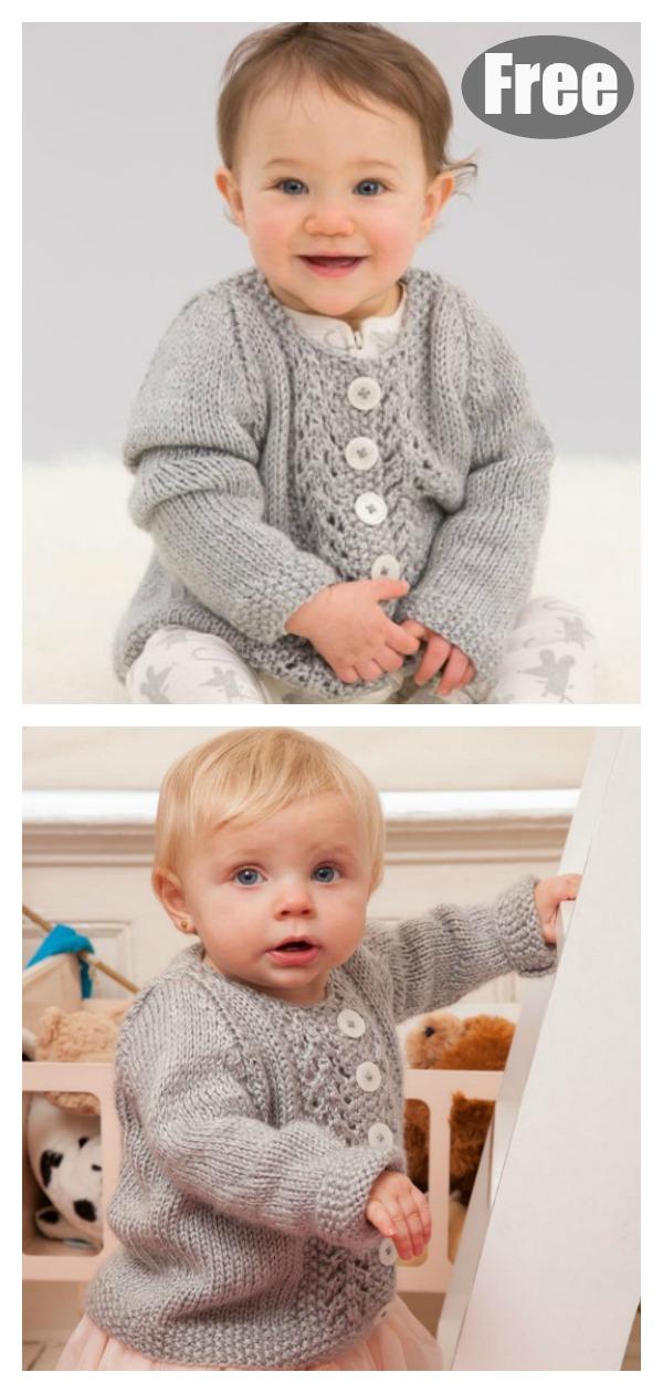 Baby Lace Cardigan Free Knitting Pattern