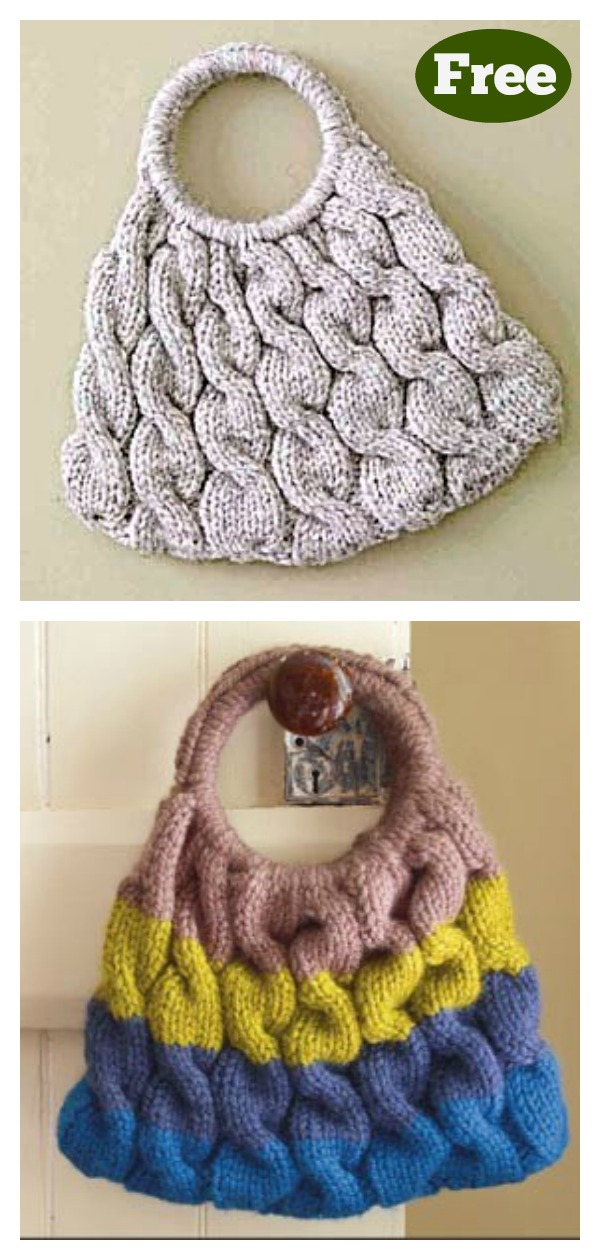 Cable Ready Bag Free Knitting Pattern