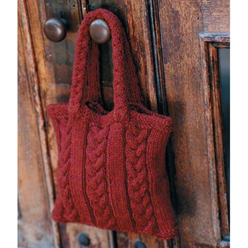 Cabled Bag Free Knitting Pattern