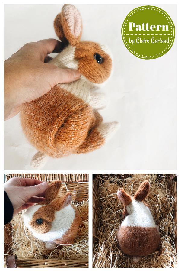 Cinnamon Dutch Bunny Knitting Pattern