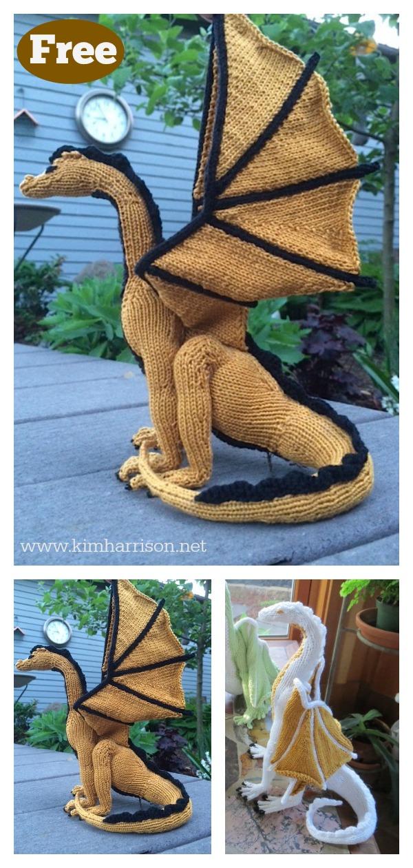 Dragon Amigurumi FREE Knitting Pattern