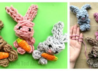Easy Finger Knitting Bunny Video Tutorial