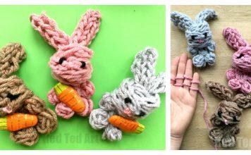 Easy Finger Knitting Bunny Video Tutorial