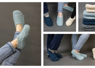 Easy Slippers Free Knitting Pattern