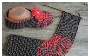 Easy slippers Free Knitting Pattern and Video Tutorial