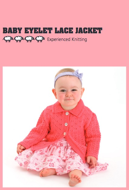 Eyelet Lace Baby Cardigan Free Knitting Pattern