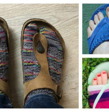 Flip Flop Socks FREE Knitting Pattern