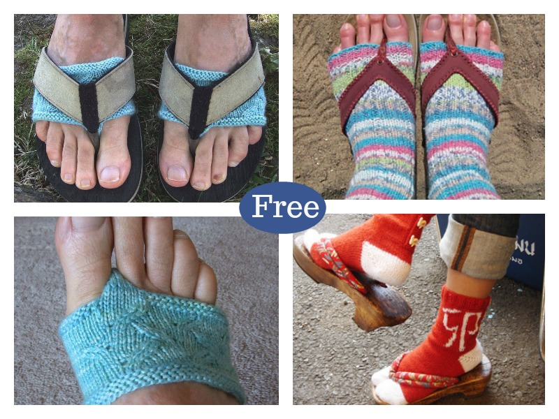 c4bbb2db9d80cd Flip Flop Socks FREE Knitting Pattern