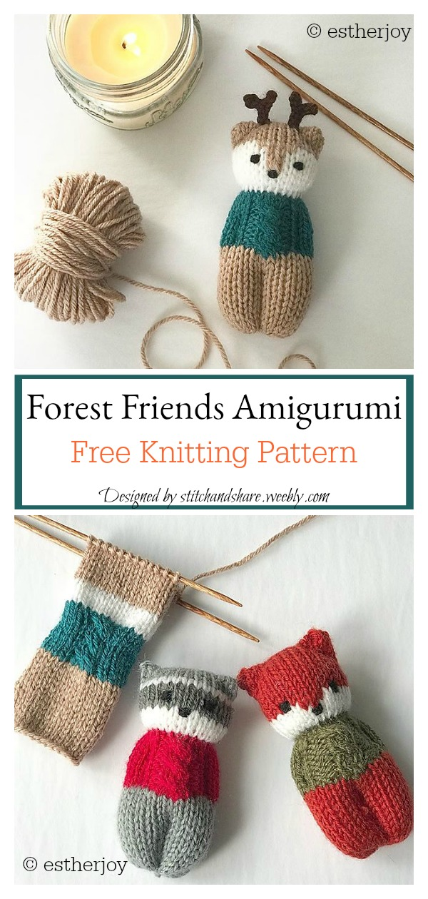 Forest Friends Amigurumi Free Knitting Pattern