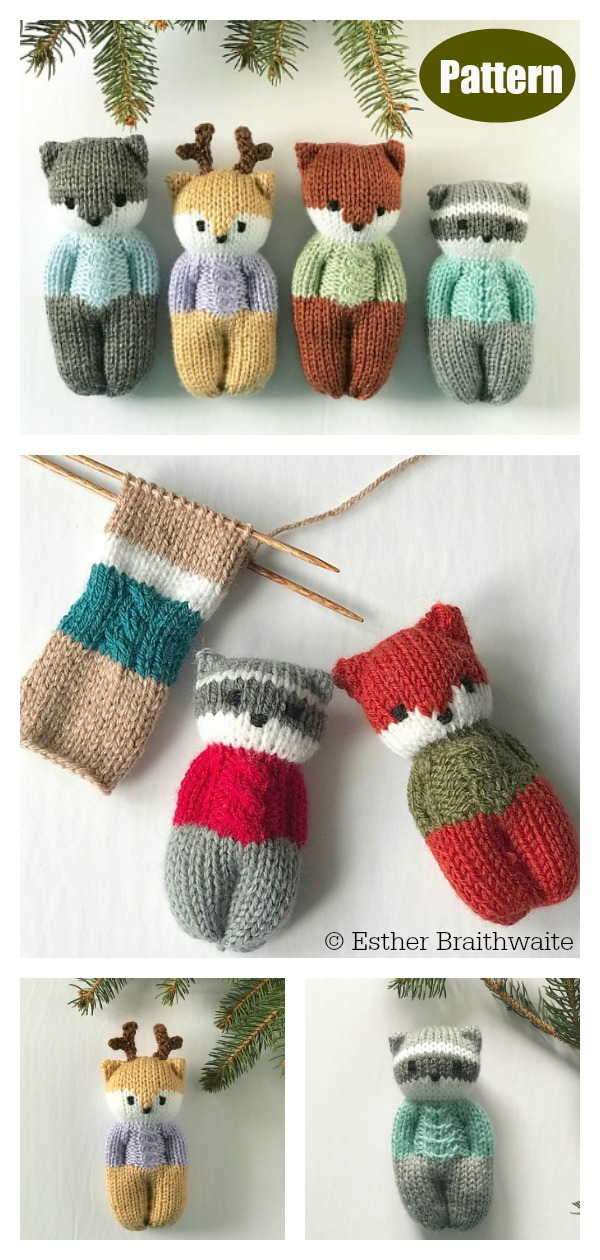 Forest Friends Dolls Keychain Knitting Pattern