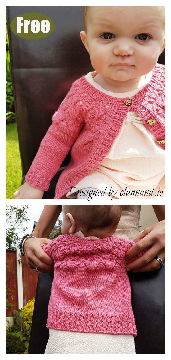 57e570bbb2b8de 10+ Baby Lace Cardigan Free Knitting Patterns