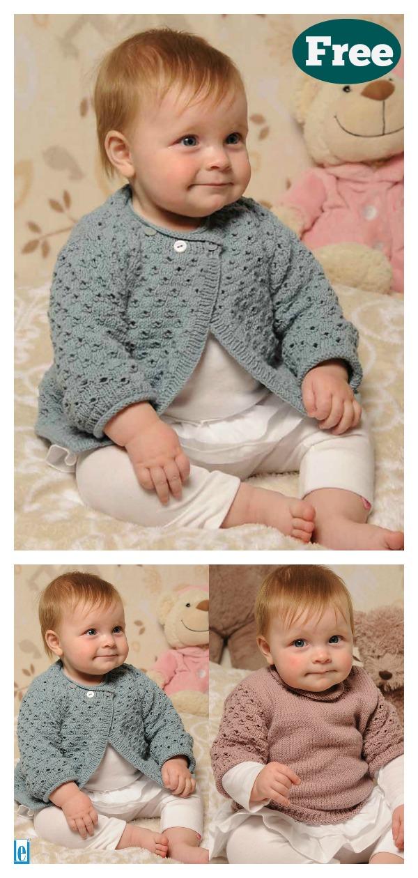 Lace Baby Cardigan Free Knitting Pattern