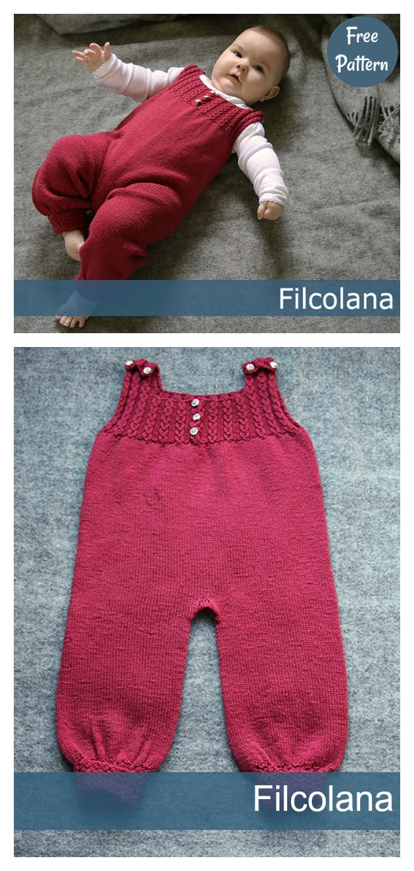 Lovely Baby Dungarees Free Knitting Pattern