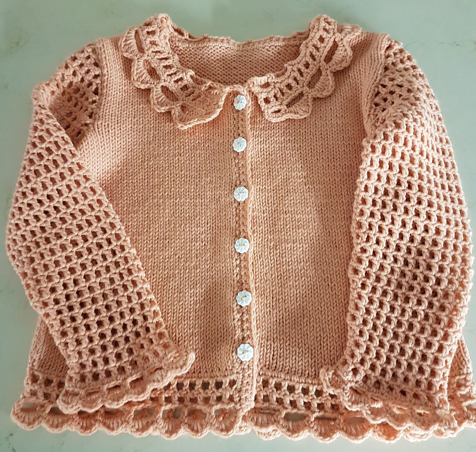 Little Lovely Lacey Cardigan Free Knitting Pattern