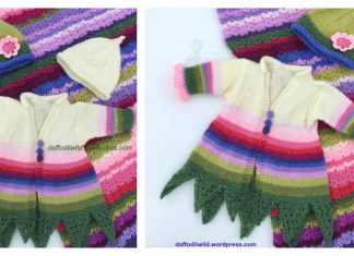 Pea Flower Fairy Baby Jacket Free Knitting Pattern