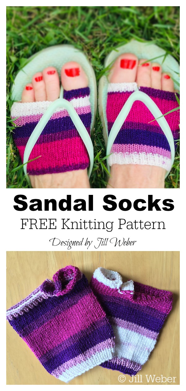 Sandal Socks FREE Knitting Pattern