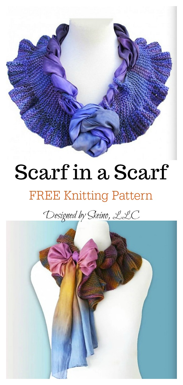 Scarf in a Scarf FREE Knitting Pattern
