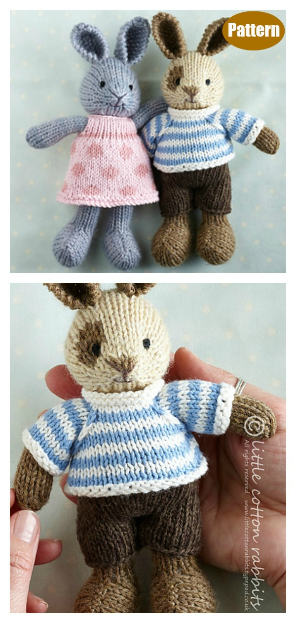 Small Rabbit Knitting Pattern