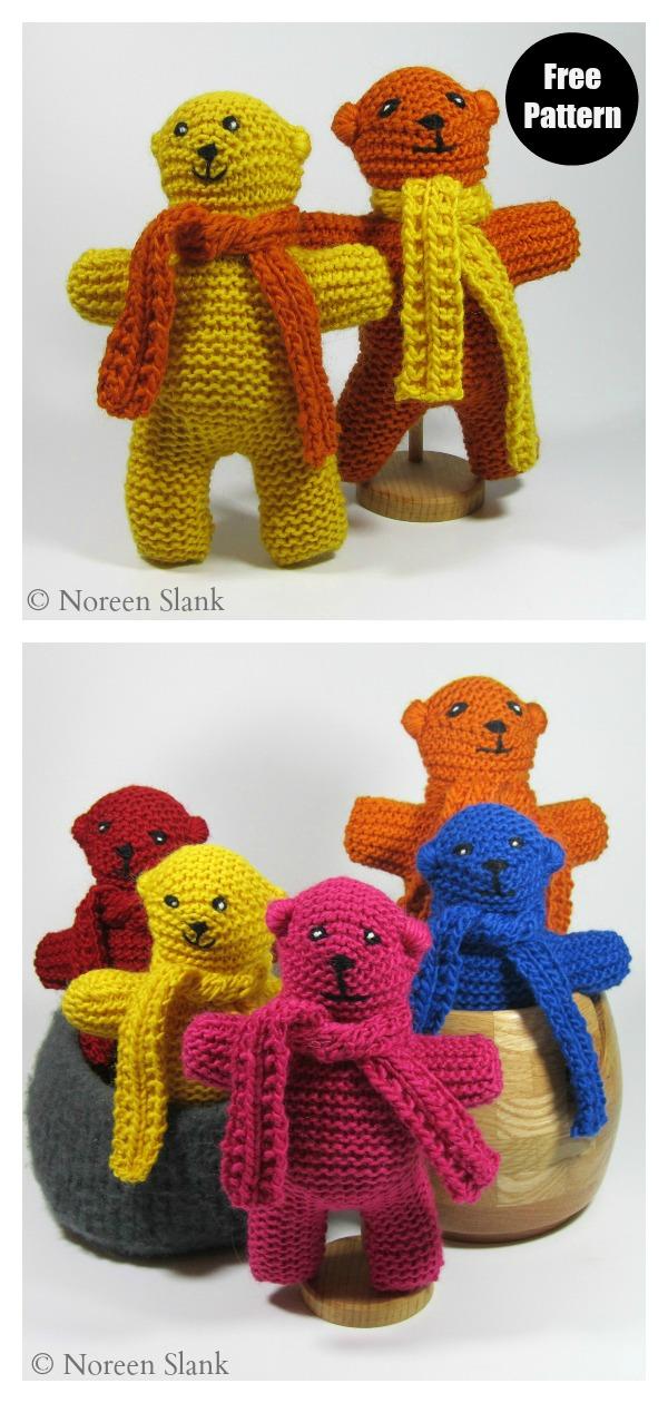 Sunrise Side Bear Free Knitting Pattern