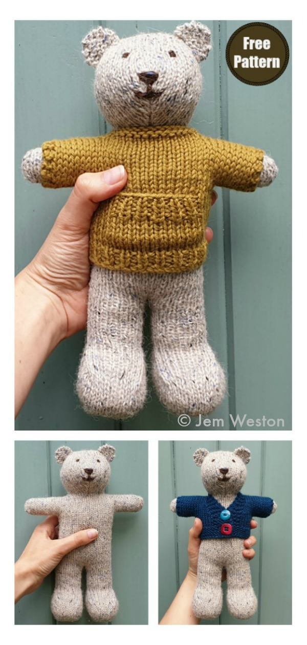 Ted Bear Free Knitting Pattern