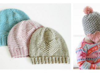Valentine Heart Baby Hat Free Knitting Pattern