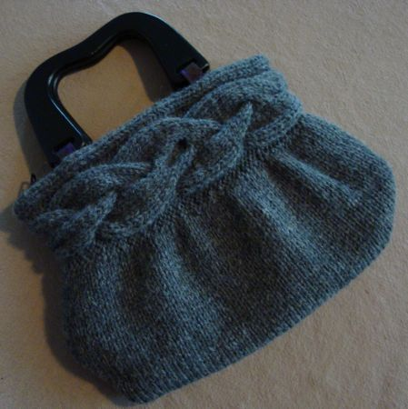 Cable Braid Bag Free Knitting Pattern