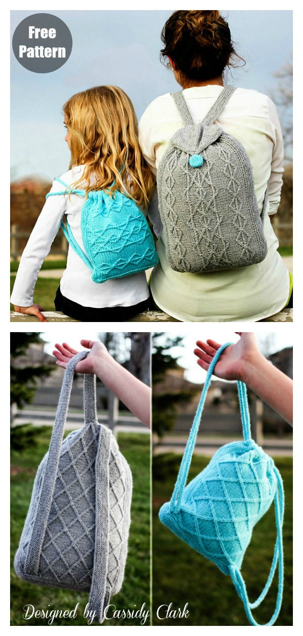 Adventure Backpack Free Knitting Pattern