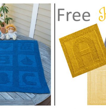 Alphabet Afghan Baby Blanket Free Knitting Pattern