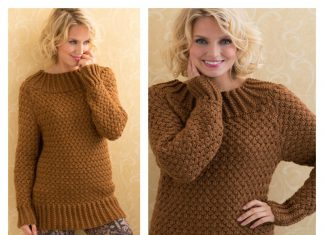 Aran Basket Stitch Sweater Free Knitting Pattern