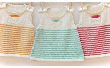 Baby Pinafore Dress Free Knitting Pattern
