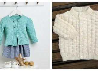 Basket Weave Baby Cardigan Free Knitting Pattern